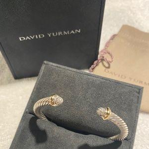 David Yurman Cable Diamond 18K Gold Bracelet 5mm